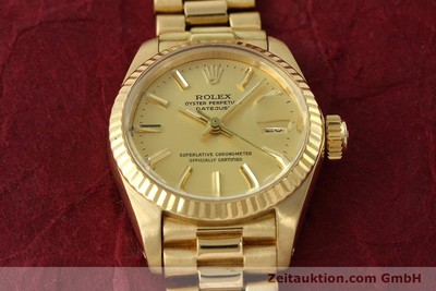 ROLEX LADY 18K (0,750) GOLD DATEJUST AUTOMATIK DAMENUHR 6917 VP: 20600,- EURO [142742]
