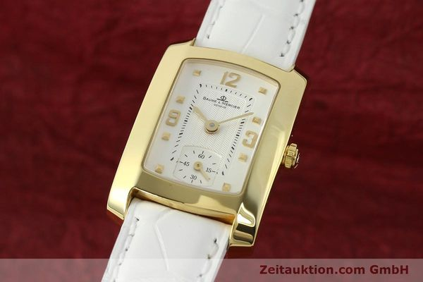 BAUME & MERCIER HAMPTON 18K GOLD DAMENUHR MV045229 KARREÉ VP: 6300,- EURO [142761]