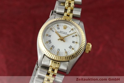 ROLEX OYSTER PERPETUAL STEEL / GOLD AUTOMATIC KAL. 2030 LP: 6950EUR [142768]
