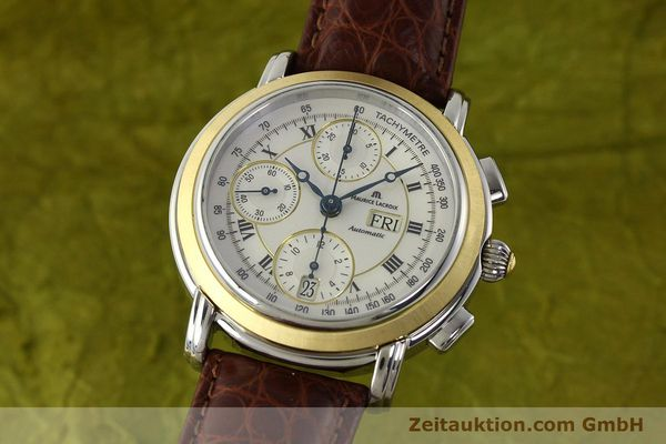 MAURICE LACROIX MASTERPIECE CHRONOGRAPH STEEL / GOLD AUTOMATIC KAL. ML 67 ETA 7750 LP: 4900EUR [142797]