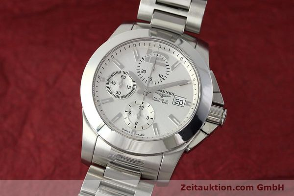 LONGINES CONQUEST CHRONOGRAPH STEEL AUTOMATIC KAL. 667.2, ETA 7750 LP: 2340EUR [142801]