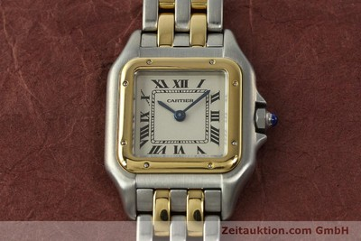 CARTIER PANTHERE STEEL / GOLD QUARTZ KAL. 157 [142807]