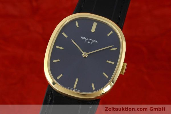 PATEK PHILIPPE 18K GOLD ELLIPSE D´OR HANDAUFZUG 3548 MEDIUM VP: 19930,- EURO [142811]