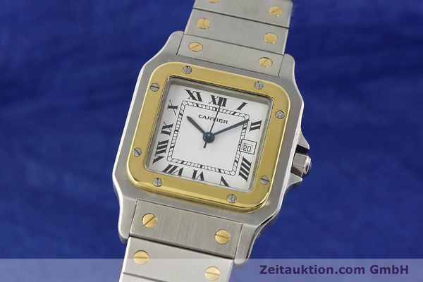 CARTIER SANTOS ACIER / OR AUTOMATIQUE KAL. ETA 2671 LP: 7100EUR [142814]