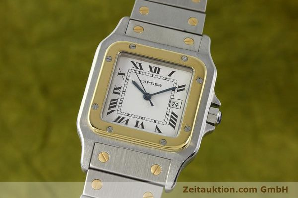 CARTIER SANTOS ACIER / OR AUTOMATIQUE KAL. ETA 2671 LP: 7100EUR [142866]
