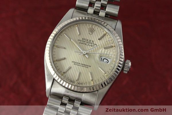 ROLEX DATEJUST STEEL / WHITE GOLD AUTOMATIC KAL. 3035 LP: 6350EUR [142869]