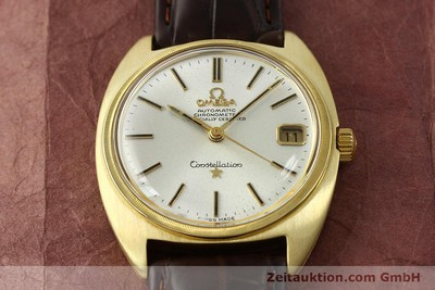 OMEGA 18K GOLD CONSTELLATION AUTOMATIK HERRENUHR VINTAGE 1969 VP: 6710,-EUR [142913]