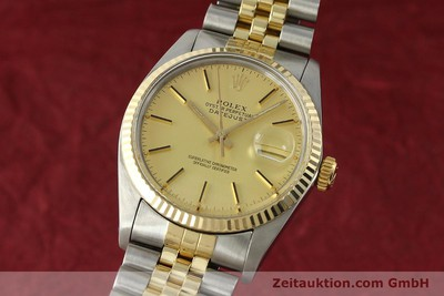 ROLEX DATEJUST STEEL / GOLD AUTOMATIC KAL. 3035 LP: 8800EUR [142917]