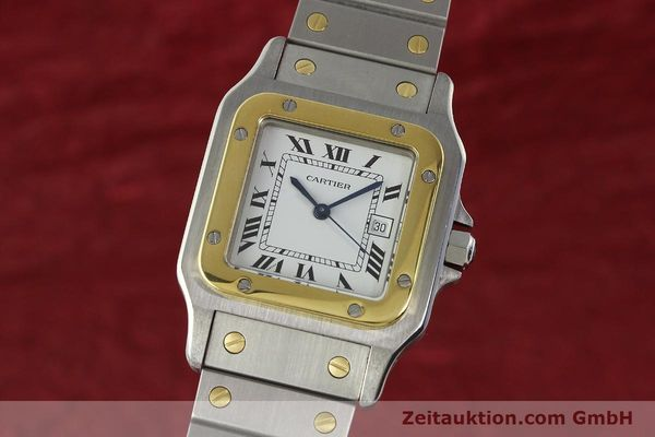 CARTIER SANTOS ACIER / OR AUTOMATIQUE KAL. ETA 2671 LP: 7100EUR [142939]