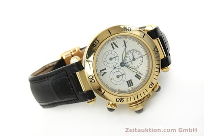 CARTIER PASHA CHRONOGRAPH 18 CT GOLD QUARTZ KAL. 212P [142943]