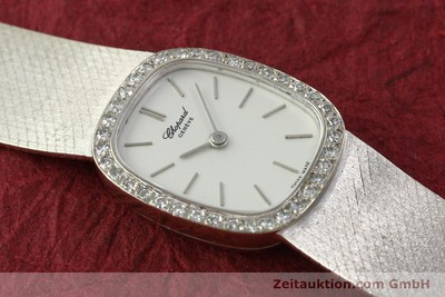 CHOPARD LADY 18K (0,750) WEISS GOLD DAMENUHR DIAMANTEN HANDAUFZUG VP: 19750,- Euro [142957]