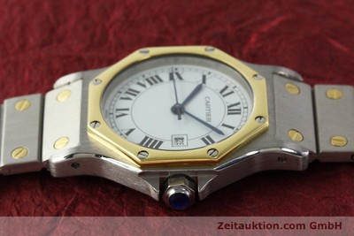 CARTIER SANTOS ACIER / OR AUTOMATIQUE KAL. ETA 2671 LP: 7100EUR [142983]