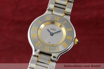 CARTIER LADY MUST DE LIGNE 21 STAHL / GOLD DAMENUHR DESIGN KLASSIKER VP: 1910,-E [142993]
