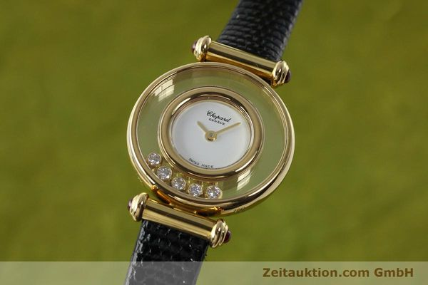 CHOPARD LADY 18K GOLD HAPPY DIAMONDS DAMENUHR DIAMANTEN REF 4112 VP: 10940,-EUR [143002]