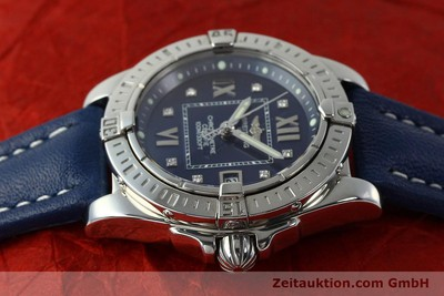 BREITLING LADY COCKPIT DAMENUHR STAHL BRILLANTEN DIAMANTEN DATUM VP: 4540,-EURO [143017]
