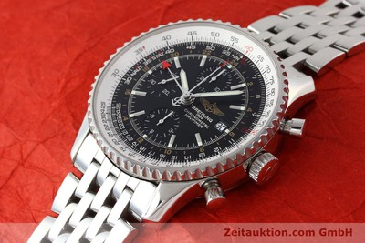 BREITLING NAVITIMER WORLD CHRONOGRAPH GMT MIT STAHLBAND A24322 NP: 6640,- EURO [143039]