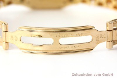 CARTIER LADY 18K GOLD 0,750 PANTHERE DIAMANTEN KARREE DAMENUHR VP: 21900,- EURO [143047]