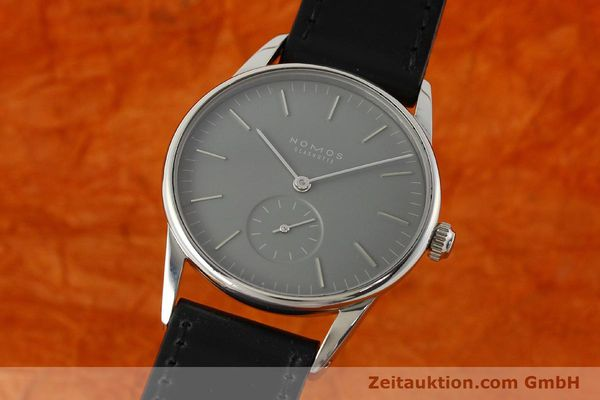 NOMOS ORION STEEL MANUAL WINDING KAL. ALPHA 49792 LP: 1400EUR [143052]