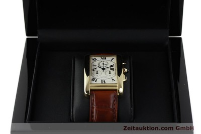 CARTIER TANK CHRONOGRAPH 18 CT GOLD QUARTZ KAL. 212P [143071]