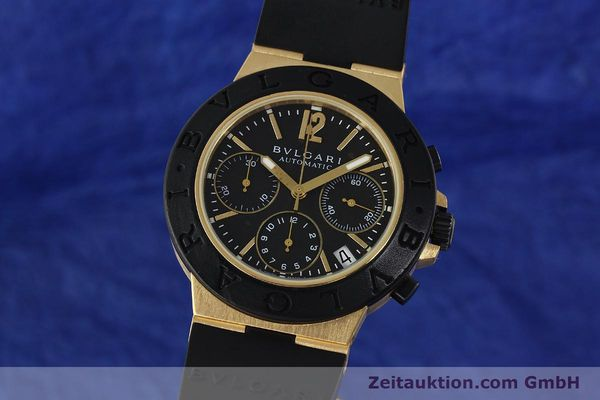 BVLGARI DIAGONO CHRONOGRAPH 18 CT GOLD AUTOMATIC KAL. TEEE LP: 19500EUR [143076]