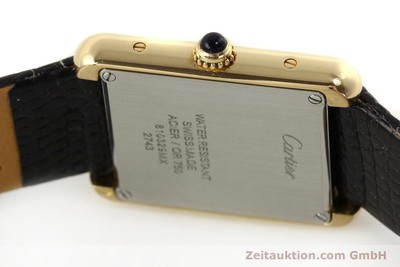 CARTIER TANK 18 CT GOLD QUARTZ KAL. 157 [143079]