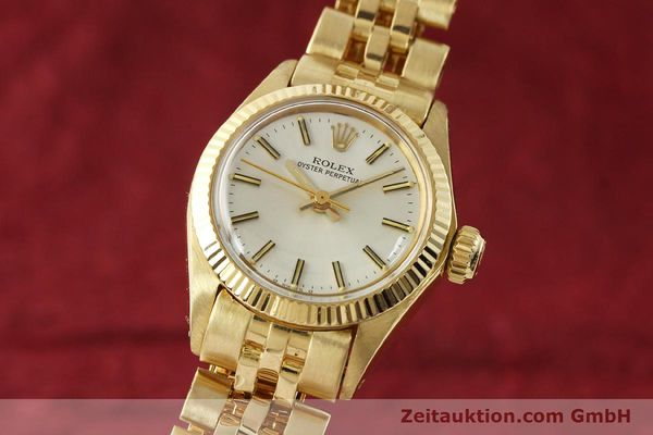 ROLEX OYSTER PERPETUAL ORO 18 CT AUTOMATISMO KAL. 2030 LP: 20600EUR [143081]