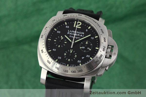 PANERAI LUMINOR CHRONO DAYLIGHT CHRONOGRAPH STEEL AUTOMATIC KAL. OP XII ETA 7753 LP: 7400EUR [143090]