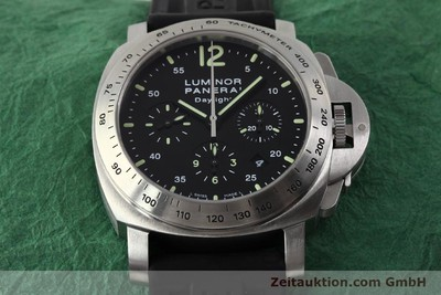 PANERAI LUMINOR CHRONO DAYLIGHT CHRONOGRAPHE ACIER AUTOMATIQUE KAL. OP XII ETA 7753 LP: 7400EUR [143090]
