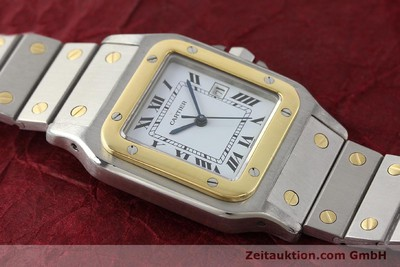 CARTIER SANTOS STEEL / GOLD AUTOMATIC KAL. ETA 2671 LP: 7100EUR [143104]