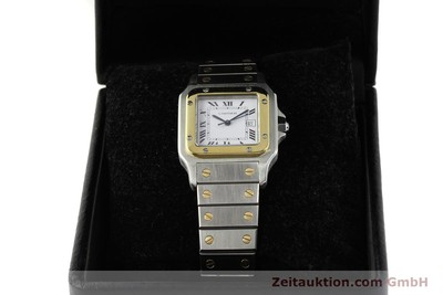 CARTIER SANTOS STEEL / GOLD AUTOMATIC KAL. 077 ETA 2671 LP: 7100EUR [143110]