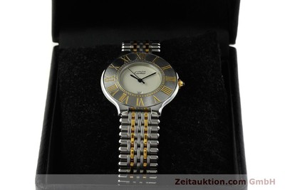 CARTIER LADY MUST DE LIGNE 21 STAHL / GOLD DAMENUHR DESIGN KLASSIKER VP: 1910,-E [143114]
