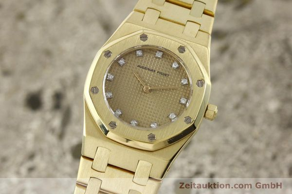 AUDEMARS PIGUET LADY 18K (0,750) GOLD ROYAL OAK DAMENUHR DIAMANTEN VP: 36100,- Euro [143117]