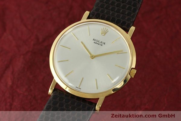 ROLEX CELLINI 18K GOLD HANDAUFZUG PRECISION HERRENUHR 9576 VINTAGE MEDIUM [150046]
