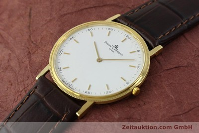 BAUME & MERCIER 18 CT GOLD QUARTZ KAL. BM9098 ETA 210001 LP: 1700EUR [150090]
