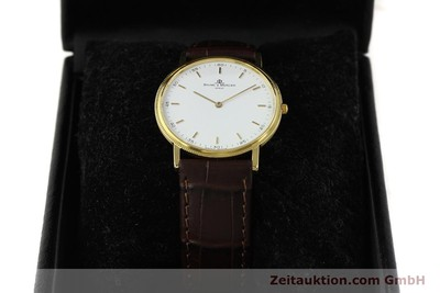 BAUME & MERCIER 18K RONDE GOLD HERRENUHR CLOUS DE PARIS VP: 1700,- EURO [150090]