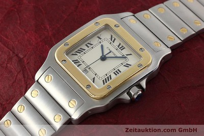CARTIER SANTOS ACIER / OR QUARTZ KAL. 87 LP: 7100EUR [150096]