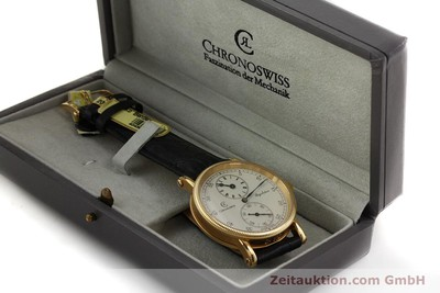 CHRONOSWISS 18K (0,750) GOLD REGULATEUR HANDAUFZUG HERRENUHR CH6331 VP: 12800,-Euro [150101]