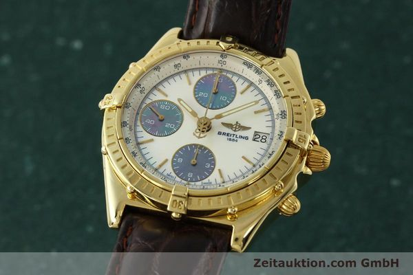 BREITLING CHRONOMAT CHRONOGRAPHE OR 18 CT AUTOMATIQUE KAL. B13 ETA 7750 LP: 23030EUR [150129]