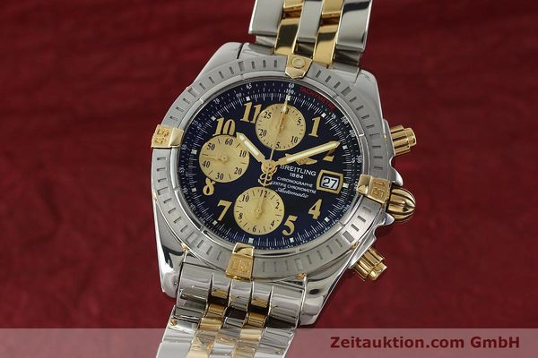BREITLING EVOLUTION CHRONOGRAPH STEEL / GOLD AUTOMATIC KAL. B13 ETA 7750 LP: 11380EUR [150158]