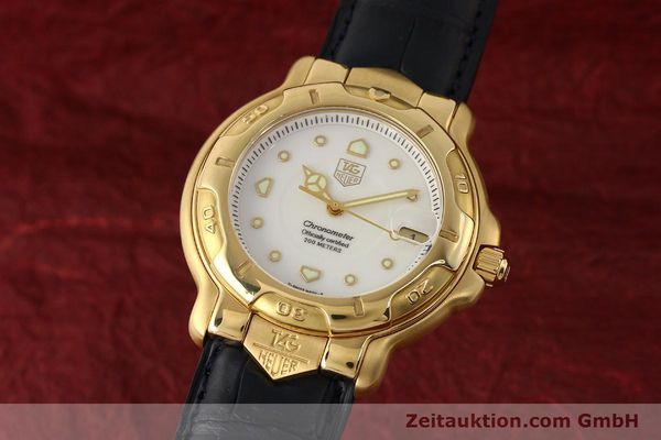 TAG HEUER 6000 18K (0,750) GOLD CHRONOMETER AUTOMATIK HERRENUHR VP: 8550,- EURO [150287]