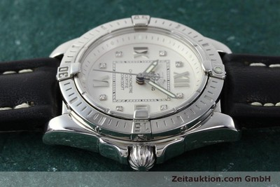 BREITLING LADY COCKPIT DAMENUHR STAHL BRILLANTEN DIAMANTEN DATUM VP: 4540,-EURO [150295]