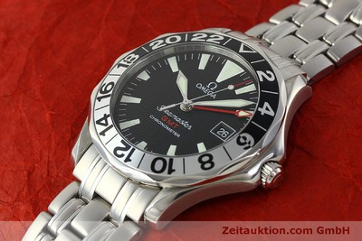 OMEGA SEAMASTER GMT CHRONOMETER AUTOMATIK STAHL 50 YEARS EDITION VP: 3200,- EUR [150320]