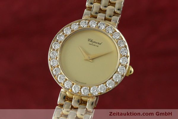 CHOPARD LADY 18K (0,750) GOLD DAMENUHR DIAMANTEN SCHMUCKUHR VP: 19750,- Euro [150498]