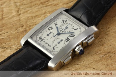 CARTIER TANK CHRONOGRAPH STEEL QUARTZ KAL. 212P LP: 9550EUR [150500]