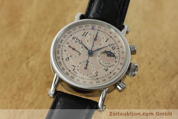 CHRONOSWISS LUNAR CHRONOGRAPHE ACIER AUTOMATIQUE KAL. 741 LP: 6150EUR [150509]