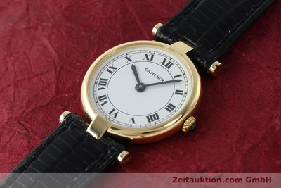 CARTIER LADY VENDOME 18K (0,750) GOLD RONDE DAMENUHR KLASSIKER VP: 7450,- EURO [150523]