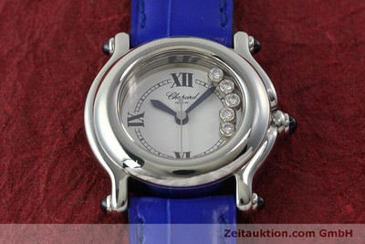 CHOPARD LADY HAPPY SPORT DIAMANTEN DAMENUHR EDELSTAHL 27/8250-23 VP: 5055,- EURO [150538]