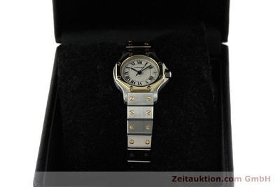 CARTIER SANTOS ACIER / OR QUARTZ KAL. 87 LP: 5600EUR [150549]