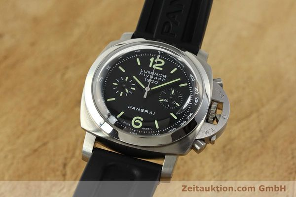 PANERAI LUMINOR CHRONOGRAPH STEEL AUTOMATIC KAL. OP XIX ETA 7750 LP: 9800EUR [150609]