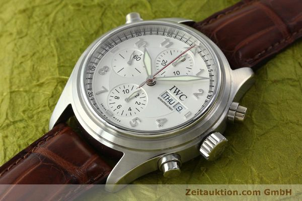 Used luxury watch IWC Doppelchronograph chronograph steel automatic Kal. 79230 Ref. 3713  | 150613 01